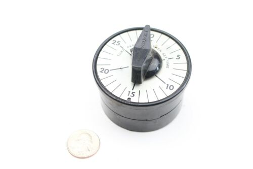 """Vintage MH Rhodes """"Mark Time"""" Mechanical Timer 0 to 25 Minutes Dial"""