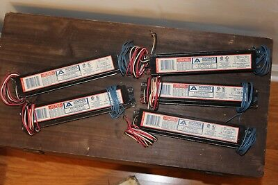 Lot Of 5 Advance Vel-2p32-sc Electronic Ballasts 277v Free Shipping
