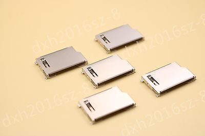 Sd Memory Card Socket Slot Pcb Mount Solder Connector Adapter Plug Short Body X5