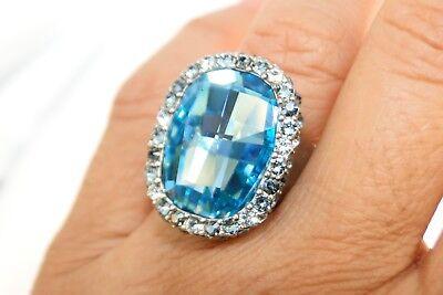 NWT Authentic Brighton Contessa silver& Blue Crystal Stone Ring Size 9 $82