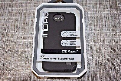 Black Incipio Flexible Impact Resistant Case For The Zte Maven   1125
