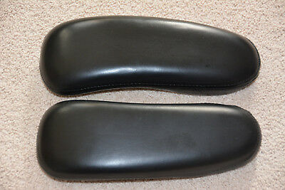 Genuine Oem Herman Miller Aeron Arm Pads Chair Armrest A B C Pair Leather Set