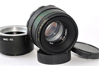 New HELIOS 44-2 2/58mm+ adapter FujiFilm M42/FX Mount BEST Russian USSR