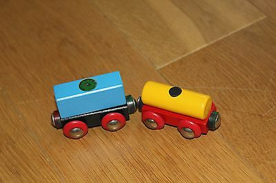 Brio Waggon Waggons mit Magnet Holzeisenbahn