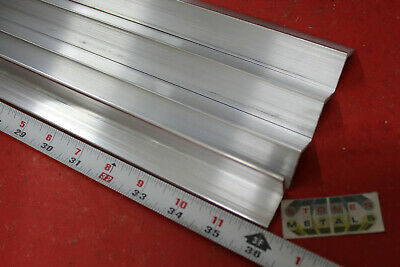 4 Pieces 1 X 18 Wall Aluminum 6061 Angle Bar 36 Long T6 Mill Stock