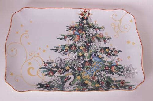 New Williams Sonoma Twas the Night Before Christmas Tree rectangular platter