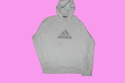 vintage adidas jumper hoodie white mens medium