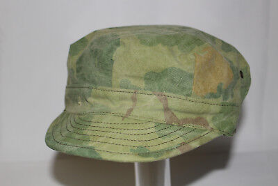 VIETNAM WAR ORIGINAL USMC THEATER MADE MITCHELL CAMO FIELD CAP HAT