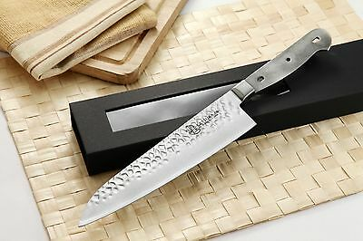 Japanese Hammered Damascus Gyuto Chef's Knife kit blank VG-10 Steel 67 Layers
