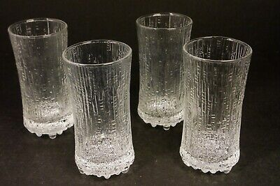 IITTALA ULTIMA THULE 18cl Sparkling Wine GlassesTapio Wirkkala Set of Four