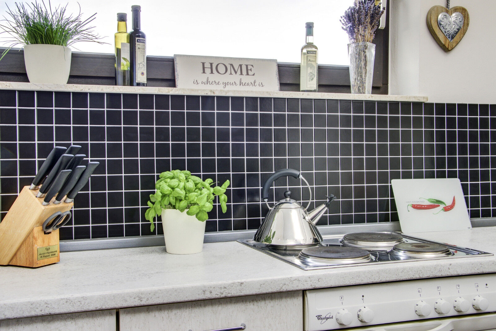Küchenrückwand Fliesenspiegel schwarz matt Keramik Mosaik | Art: 16 ...