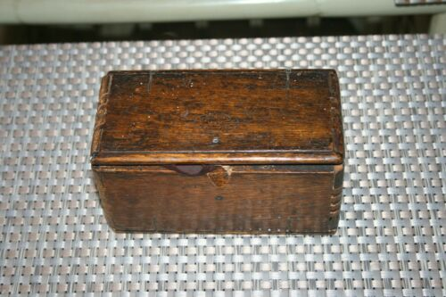 "Antique Sewing Machine Parts Wood Puzzle Box ""Patented 1889 February 19"" Unique!"