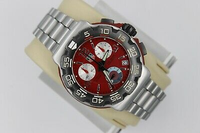 Parts Repair Tag Heuer CAC1112.BA0850 Formula 1 Red Chronograph Watch Mens
