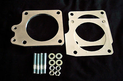 """Mustang GT40 5.0 throttle body EGR spacer 1/2"""" 70mm fuel Injection manifold"""