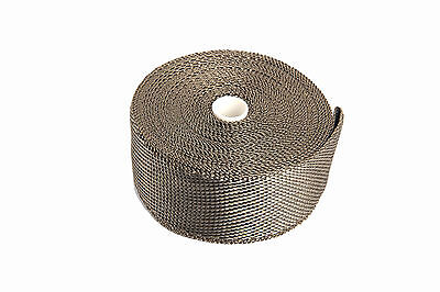 Titanium Lava Exhaust Turbo  Heat Wrap For Motorcycle  50mm×1.6 mm×7.5m Woven