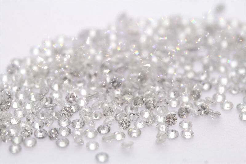.50ctw 1/2ctw Wholesale Lot of 1.75-1.70mm .02ct ea Loose Round Diamonds