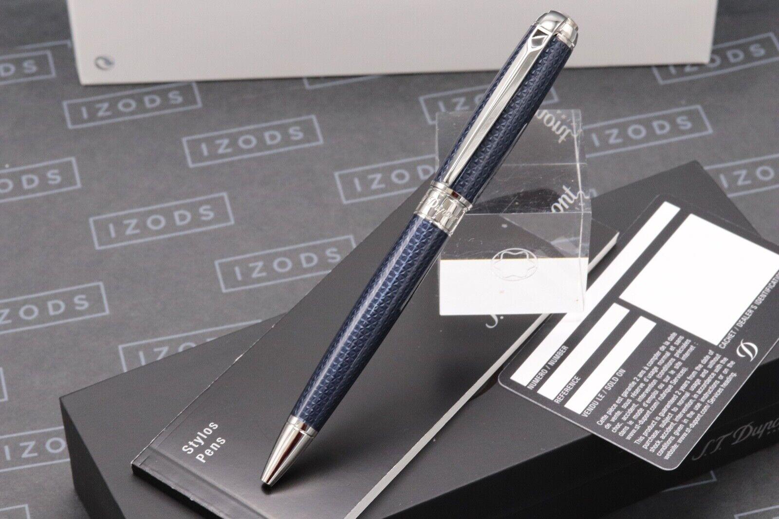 S.T. Dupont Fire Head Medium Blue Guilloche Ballpoint Pen 1