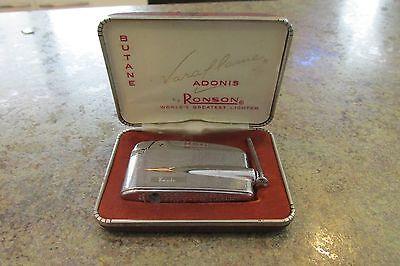 Vintage Ronson Varaflame Adonis Butane Cigarette Lighter with Original Box