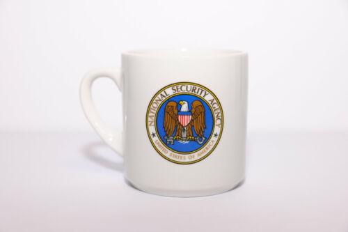 NSA Gold Trim and Lettering Around Logo Coffee Mug