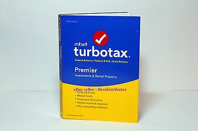 TurboTax Premier 2016 Federal + Fed E File + State BRAND NEW Turbo Tax Year 2016