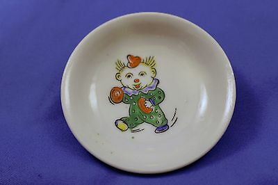 "Vintage Japanese Clown Porcelain or Ceramic 2.5"" Dipping Dish Plate"