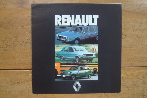 "1978 Renault 5 GTL, 12 ""Nordic"", 30 TS Brochure"