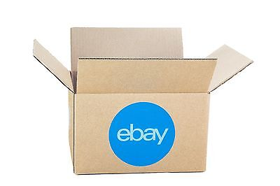 """eBay-Branded Boxes With Blue 2-Color Logo 8"""" x 6"""" x 4"""""""