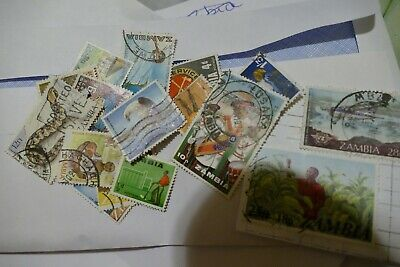 20 Zambia Africa used postage stamps postal philately philatelic mail kiloware