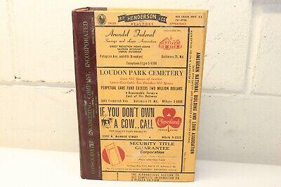 1962 Polk's City Directory for GLEN BURNIE LINTHICUM HGTS MARYLAND Md. Genealogy