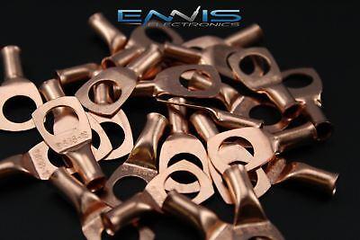 8 Gauge Copper 38 Ring 10 Pk Crimp Terminal Connector Awg Ga Car Eye Cur838