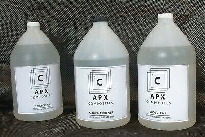 Apx Clear 2000 3 Gallon 384 Oz Slow Hardener Carbon Fiber Epoxy Resin