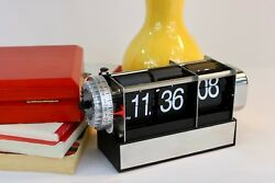 Retro-Inspired Black Desk Flip Clock with Alarm