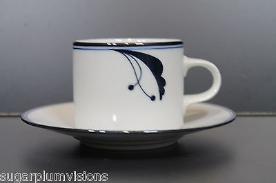 Dansk Bayberry Blue Flora Coffee Cup and Saucer  Blue Flora Cup