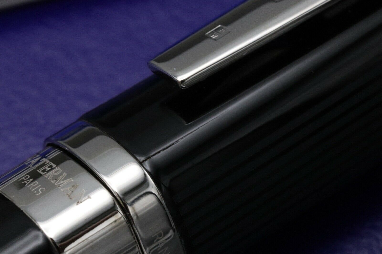 Waterman Exception Night and Day Black Fountain Pen 5
