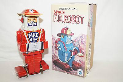 Fireman F.D.ROBOTER mechanical Astronaut Space TOY Tin China Blechspielzeug