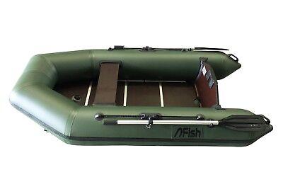 FISH 240 grün Schlauchboot mit Siebdruckplattenboden und Luftkiel, 1100 Dtex