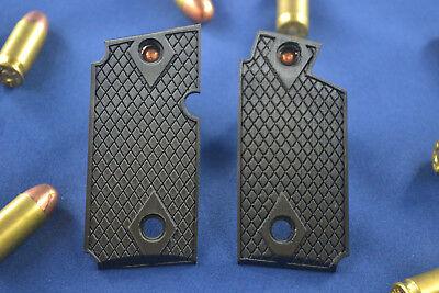 Classic Diamond Check Inlaid P238 Grips Sig Sauer Custom Black for sale  Key West