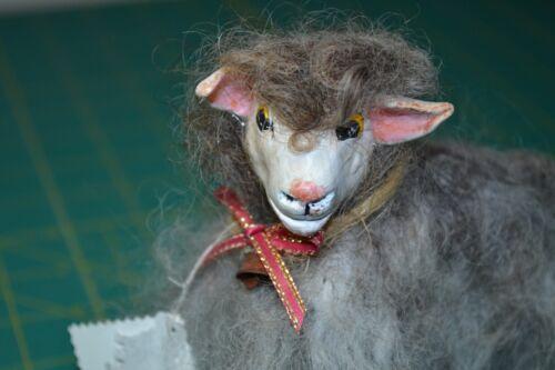 NEEDLE FELTED TIBETAN WOOL SHEEP MONGOLIAN WOOL HAND MADE - OOAK