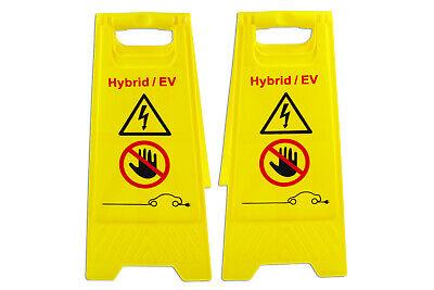 Eléctrico Vehículo Híbrido Aviso Placa Suelo de Pie Taller/Bodyshop Reparación