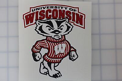 Wisconsin Badgers NCAA Vinyl Sticker Decal Cornhole Car Truck Bumper Laptop -
