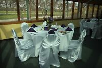 White Satin Universal Chair Covers .75 rental