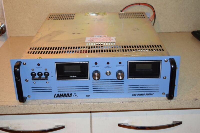 LAMBDA EMI EMS POWER SUPPLY 80-60-2-D