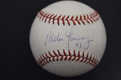 Mike Lansing Boston Red Sox Expos Rookies Autograph Signed MLB Baseball H