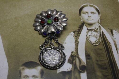 Ukrainian dukach, folk silver jewelry..
