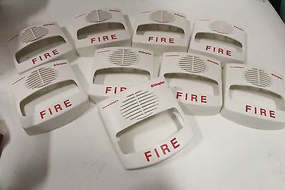 Lot Of 9 Simplex Truealert Fire Alarm White Cover Sv Sound Visional Strobe