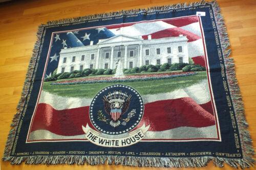 The White House Throw Tapestry Washington DC New/Tag