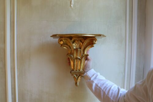 Vintage Gold Florentine Italian Wall Shelf