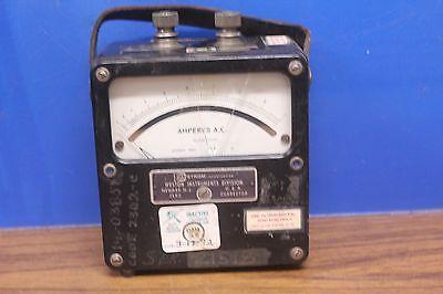 Vintage Weston Model 433 Amperes A.c. Weston Electrical Instrument Newark N.j.