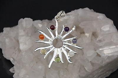 7 Chakra Chakren Anhänger Sonne  ca. 4 cm Edelsteine