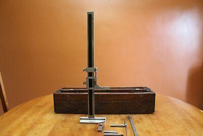 Vintage Starrett 18 No. 454 Vernier Height Gage Caliper In The Original Box